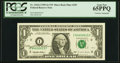 Mary Ellen Withrow Courtesy Autographed Fr. 1922-I $1 1995 Federal Reserve Note with Micro Back Plate Number 295. PCGS G...