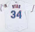 Autographs:Bats, Nolan Ryan Signed Texas Rangers Jersey with 3 Inscriptions...