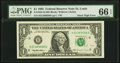Error Notes:Miscellaneous Errors, Stuck Digit Error Fr. 1922-H $1 1995 Federal Reserve Note. PMG Gem Uncirculated 66 EPQ.. ...