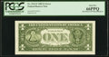 Fr. 1913-F $1 1985 Federal Reserve Note with Back Plate Number 129 at Left. PCGS Gem New 66PPQ