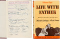 Movie/TV Memorabilia:Autographs and Signed Items, Elizabeth Taylor and Cast Signed Life With Father Hardcover Book (1939)....
