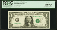 Shifted Third Printing Error Fr. 1910-K $1 1977A Federal Reserve Note. PCGS Gem New 66PPQ