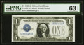 Fancy Serial Number 55554433 Fr. 1601 $1 1928A Silver Certificate. C-B Block. PMG Choice Uncirculated 63 EPQ
