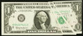 Two Gutters on Face Fr. 1901-H $1 1963A Federal Reserve Note. Extremely Fine