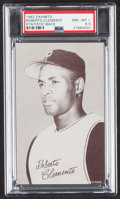 Baseball Cards:Singles (1960-1969), 1962 Exhibits Stat Back Roberto Clemente (Black Back) PSA NM-MT+ 8.5....