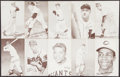 Baseball Cards:Lots, 1947-66 Exhibits Baseball Collection (28) With Stars and HoFers....