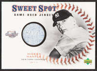 2001 Upper Deck Sweet Spot Mickey Mantle Game Used Relic Jersey Card