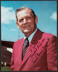 "Football Collectibles:Photos, Paul ""Bear"" Bryant Signed Photograph...."