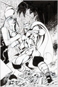 Original Comic Art:Covers, Alan Davis and Mark Farmer Thor: Truth of History #1 Cover Original Art (Marvel, 2008)....