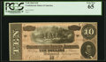 Confederate Notes:1864 Issues, T68 $10 1864 PF-15 Cr. 545 PCGS Gem New 65.. ...