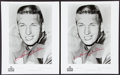 Football Collectibles:Photos, Johnny Unitas Signed Photograph Pair (2)....