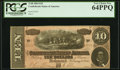 Confederate Notes:1864 Issues, T68 $10 1864 PF-15 Cr. 545 PCGS Very Choice New 64PPQ.. ...