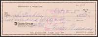1983 Ted Williams Signed Check