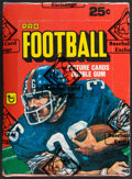 Football Cards:Boxes & Cases, 1980 Topps Football Wax Box With 36 Unopened Packs - Simms Rookie Year. ...