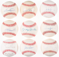 500 Home Run Club Single Signed Baseball Lot of 9