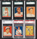 Baseball Cards:Lots, 1933 Goudey Baseball PSA/SGC Graded Collection (6)....