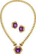 Estate Jewelry:Suites, Amethyst, Diamond, Ruby, Gold Jewelry Suite. ...