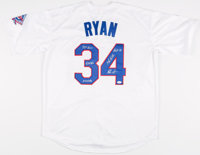 Nolan Ryan Signed Texas Rangers Jersey with 5 Inscriptions