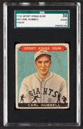 1933 Sport Kings Carl Hubbell #42 SGC 30 Good 2