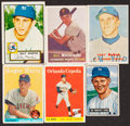 Baseball Cards:Lots, 1951-58 Bowman/Topps Baseball Stars & HoFers Collection (6)....