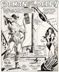 Original Comic Art:Splash Pages, Val Mayerik and the Tribe Conan the Barbarian #69 Splash Page 1 Original Art (Marvel, 1976)....