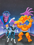 """Original Comic Art:Covers, Jeff Butler Marvel Super Heroes: MSL4 Adventure """"Stygian Knight Role-Playing Game Module Cover Painting Fantastic ..."""