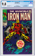 Silver Age (1956-1969):Superhero, Iron Man #1 (Marvel, 1968) CGC NM/MT 9.8 White pages.