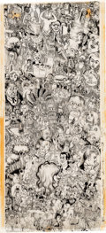 Original Comic Art:Illustrations, Robert Crumb - Page Full of Doodles Illustration Original Art (1963)....