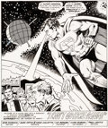 Original Comic Art:Splash Pages, Juan Ortiz and Vince Colletta Adventure Comics #455 Splash Page 1 Original Art (DC, 1978)....