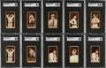 Baseball Cards:Lots, 1912 T207 Recruit Brown Border Baseball Near Set (142/207) With 3 Extras, T201, T206 (147 total cards). ...
