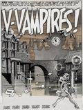 "Original Comic Art:Splash Pages, Wally Wood Three Dimensional EC Classics #1 ""V-Vampires!"" Splash Page 1 Original Art (EC, 1954)...."