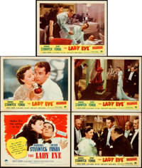 "The Lady Eve (Paramount, R-1949). Fine/Very Fine. Title Lobby Card & Lobby Cards (4) (11"" X 14""). ... (Tot..."