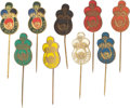 Music Memorabilia:Memorabilia, The Beatles Brass Pins (9) (Holland, 1964). ...