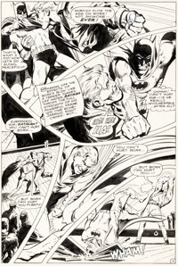 Neal Adams, Dick Giordano, and Vince Colletta Brave and the Bold #81 Story Page 7 Batman Original Art (DC, 1969)