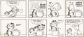 Jim Davis Garfield Sunday Comic Strip Original Art dated 2-3-80 (United Feature Syndicate, 1980)