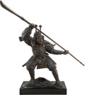 Metalwork, A Large Japanese Patinated Bronze Figure of a Samurai Warrior on a Black Painted Base, late 20th century. 74 x 30 x 20 inche...