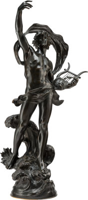 After Auguste Louis Moreau (French, 1855-1919) Nude Bronze 36 inches (91.4 cm) Signed Louis