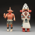 American Indian Art:Kachina Dolls, Two Hopi Kachina Dolls... (Total: 2 )