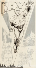 Murphy Anderson Who's Who: The Definitive Directory of the DC Universe #19 The Ray Illustration Original Art (DC, ... (T...