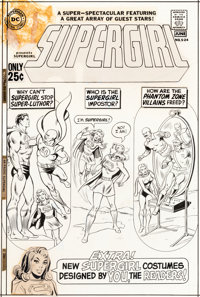 Curt Swan and Murphy Anderson Super DC Giant #S-24 Supergirl Cover Original Art (DC, 1971)