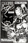 "Original Comic Art:Covers, Gabriel Hardman (as Gecko) and Bob Wiacek Marvel Age #133 ""War Machine"" Variant Cover Original Art (Marvel Comics,..."