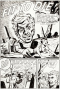 """Original Comic Art:Complete Story, Superior Artist Strange Mysteries #7 Complete 8-Page Story """"Fit to Die"""" Original Art (Superior Publ., 1952).... (Total: 8 Original Art)"""