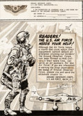 Original Comic Art:Illustrations, Jack Davis Frontline Combat #12 Ground Observer Corps Ad Illustration Original Art (EC, 1953)....