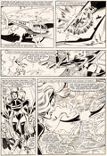 Original Comic Art:Panel Pages, Dave Cockrum and Joe Rubinstein Uncanny X-Men #154 Story Page 19 Storm Original Art (Marvel, 1982)....