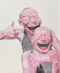 Prints & Multiples, Yue Minjun (Chinese, b. 1962). Untitled (Smile-ism No. 14), 2006. Lithograph in colors on paper. 43-1/2 x 31 inches (110...
