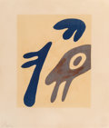 Prints & Multiples, Jean (Hans) Arp (1886-1966). Les mains, late 20th century. Lithograph in colors on paper. 17-1/8 x 14-3/4 inches (43.5 x...
