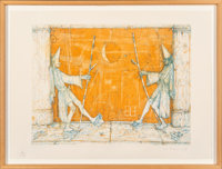 William T. Wiley (b. 1937) Goodbye Gabby, 1977 Soft ground etching in colors on wove paper 22 x 2