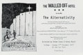 Prints & Multiples, Banksy X The Walled Off Hotel. The Alternativity, poster, 2017. Offset lithograph on smooth wove paper. 13 x 19-1/4 inch...