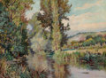 Paintings, Jack Wilkinson Smith (American, 1873-1949). River in Spring. Oil on canvas. 21-1/4 x 28-3/4 inches (54.0 x 73.0 cm). Sig...