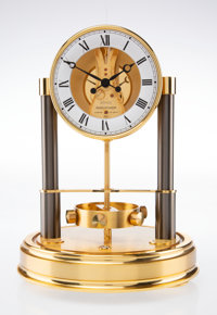 A Jaeger Le Coultre 150-Year Anniversary Fourteen-Jewel Atmos Clock, Swiss, circa 19